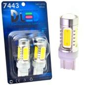 Светодиодная лампа W21/5W 7443 - 4 High-Power 6Вт Жёлтая