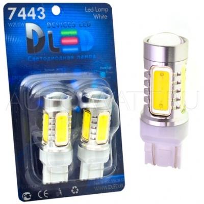 Светодиодная лампа W21/5W 7443 - 4 High-Power 6Вт Белая