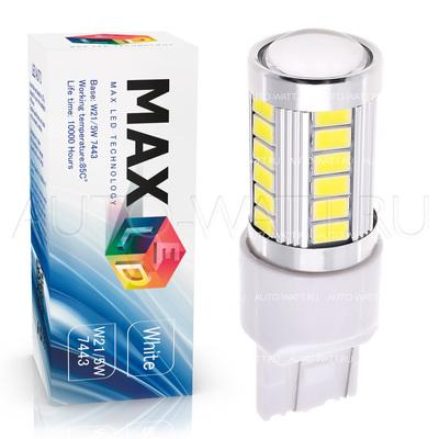 Светодиодная лампа W21/5W 7443 - Max-Road 33Led 13Вт Белая