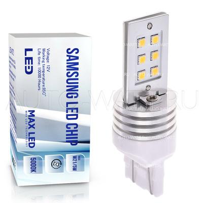 Светодиодная лампа W21/5W 7443 - Max-Samsung Chip 12Вт