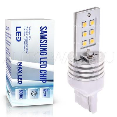 Светодиодная лампа W21W 7440 - Max-Samsung Chip 12Вт