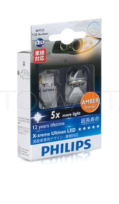 Светодиодная лампа W21W 7440 - Philips X-treme Vision LED Жёлтая