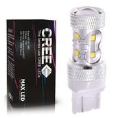 Светодиодная лампа W21W 7440 - 10 CREE Линза 50Вт