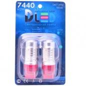 Светодиодная лампа W21W 7440 - 4 High-Power 6Вт Красная