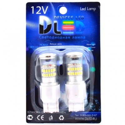 Светодиодная лампа W21/5W 7443 - 48 SMD3014 9Вт Жёлтая