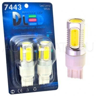 Светодиодная лампа W21/5W 7443 - 5 High-Power 7.5Вт Белая