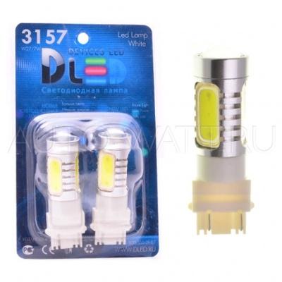 Светодиодная лампа P27/7W 3157 - 4 High-Power 6Вт Красная