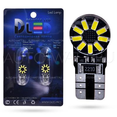 Светодиодная лампа W5W T10 – 18 SMD4014 3.6Вт + Обманка
