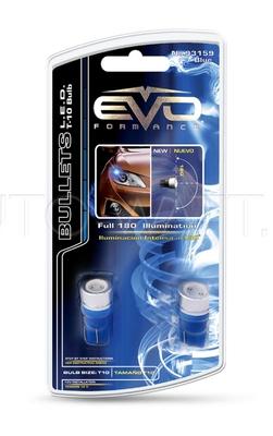 Светодиодная лампа W5W T10 – 1W EVO FORMANCE Синяя