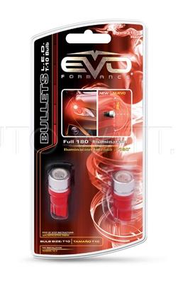 Светодиодная лампа W5W T10 – 1W EVO FORMANCE Красная