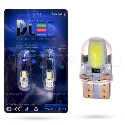 Светодиодная лампа W5W T10 – 2 HP 1Вт Белая