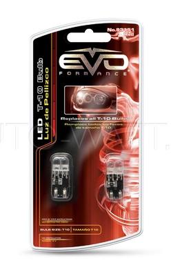 Светодиодная лампа W5W T10 – 2DIP EVO FORMANCE Красная