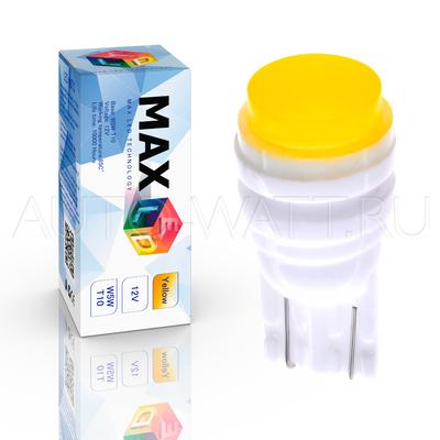 Светодиодная лампа WY5W T10 – Max-Ceramic COB 2Вт Жёлтая