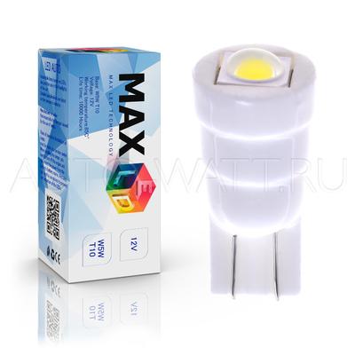Светодиодная лампа W5W T10 – Max-Ceramic Power 5Вт Белая