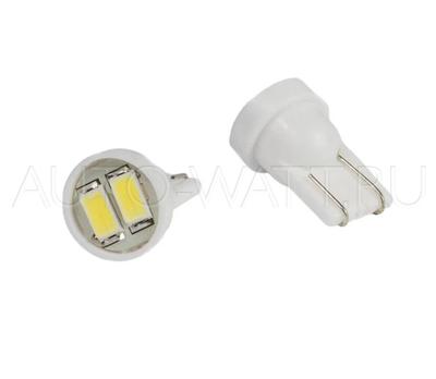 Светодиодная лампа W5W T10 – Max-Road 2Led 1Вт Белая
