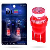 Светодиодная лампа W5W T10 – 1 Dip Led Цилиндр 0.1Вт Красная