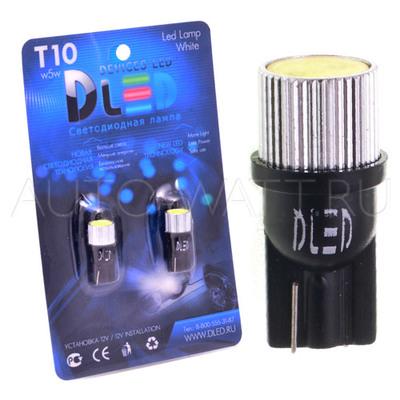 Светодиодная лампа W5W T10 – 1 HP Black 1.5Вт Белая