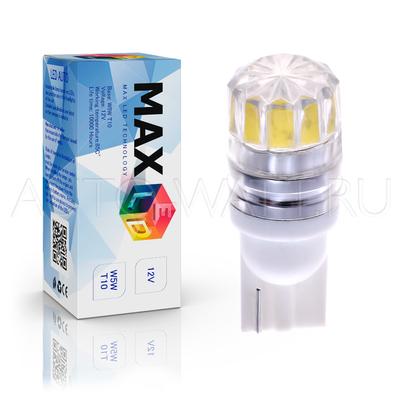 Светодиодная лампа W5W T10 – 1 HP Линза 360 1Вт Белая