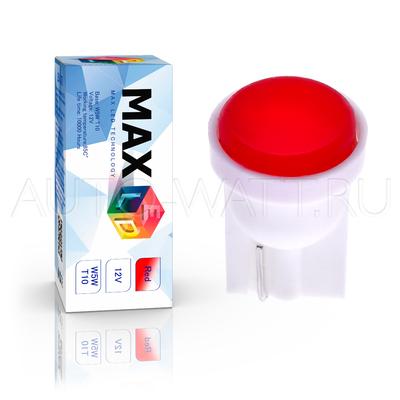 Светодиодная лампа W5W T10 – Max-COB 1Вт Красная