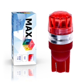 Светодиодная лампа W5W T10 – 1 Max-Cristal 2Вт Красная