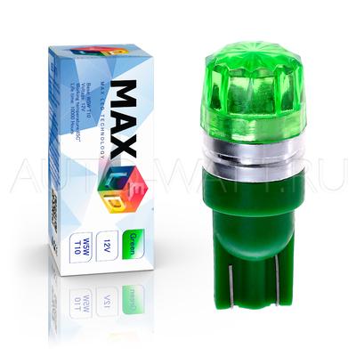 Светодиодная лампа W5W T10 – 1 Max-Cristal 2Вт Зелёная