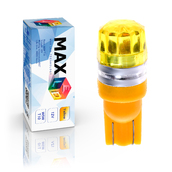 Светодиодная лампа W5W T10 – 1 Max-Cristal 2Вт Жёлтая