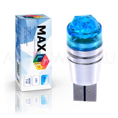 Светодиодная лампа W5W T10 – 1 Max-Cristal 3Вт Синяя