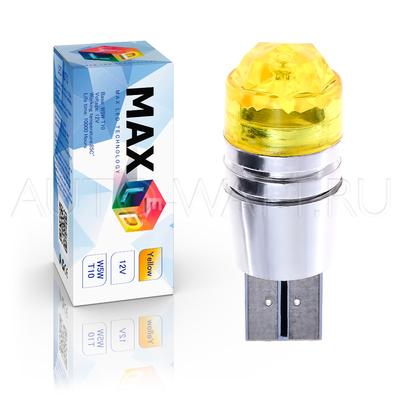Светодиодная лампа WY5W T10 – Max-Cristal 3Вт Жёлтая