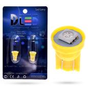 Светодиодная лампа W5W T10 – 1 SMD5050 0.24Вт Жёлтая