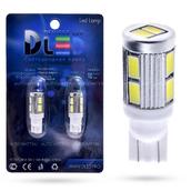 Светодиодная лампа W5W T10 – 10 SMD5630 Стабилизатор 4Вт Белая