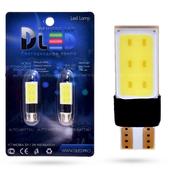 Светодиодная лампа W5W T10 – 2 COB 3Вт Белая