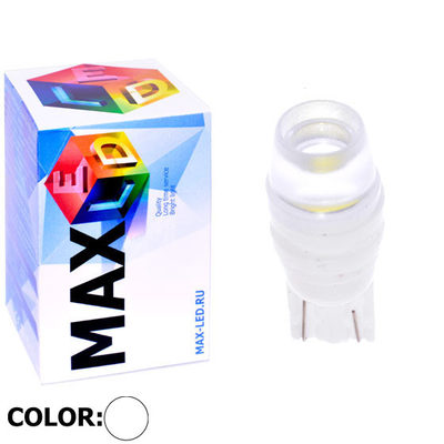 Светодиодная лампа W5W T10 – Max-Ceramic B 2Led 3Вт Белая