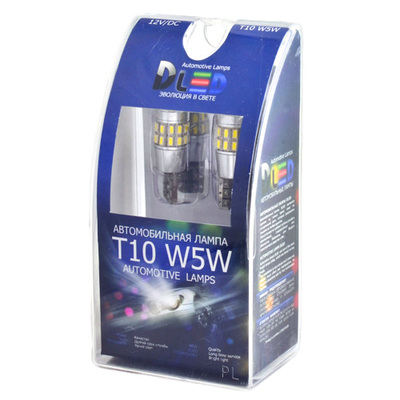 Светодиодная лампа W5W T10 – 30 SMD3014 3Вт Белая
