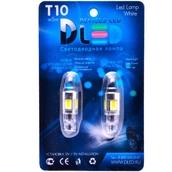Светодиодная лампа W5W T10 – 5 COB Small 9Вт Белая