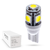 Светодиодная лампа W5W T10 – 5 SMD5050 1.2Вт Белая