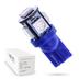 Светодиодная лампа W5W T10 – 5 SMD5050 1.2Вт Синий