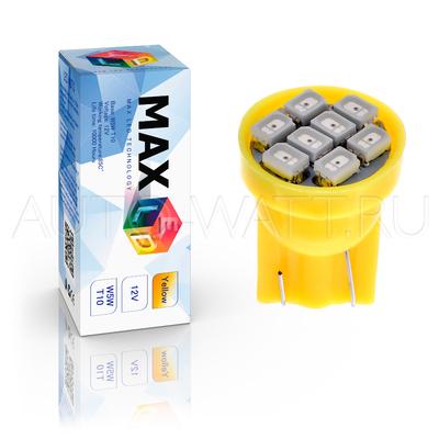 Светодиодная лампа WY5W T10 – Max-Lendigo 8Led 0.8Вт Жёлтая