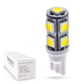 Светодиодная лампа W5W T10 – 9 SMD5050 2.16Вт Белая