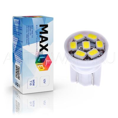 Светодиодная лампа W5W T10 – Max-2820 7Led 0.7Вт Белая