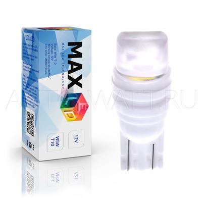 Светодиодная лампа W5W T10 – Max-Ceramic A 2Led 3Вт Белая