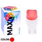 Светодиодная лампа W5W T10 – Max-Ceramic A 2Led 3Вт Красная