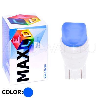 Светодиодная лампа W5W T10 – Max-Ceramic A 2Led 3Вт Синяя