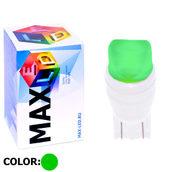Светодиодная лампа W5W T10 – Max-Ceramic A 2Led 3Вт Зелёная