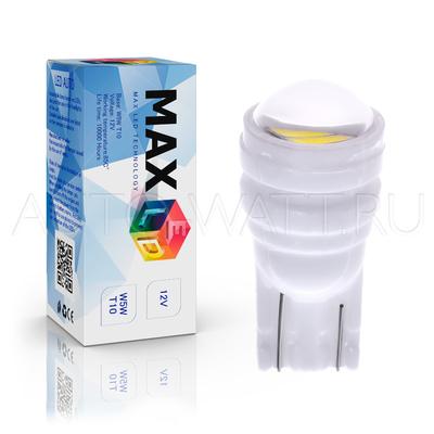 Светодиодная лампа W5W T10 – Max-Ceramic C 2Led 3Вт Белая