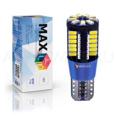 Светодиодная лампа W5W T10 – Max-Lendigo 56Led 7Вт Белая