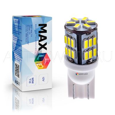 Светодиодная лампа W5W T10 – Max-Lendigo B 30Led 2Вт Белая