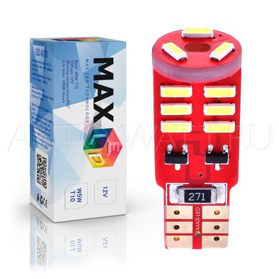 Светодиодная лампа W5W T10 – Max-Visiko 15Led 3Вт Белая