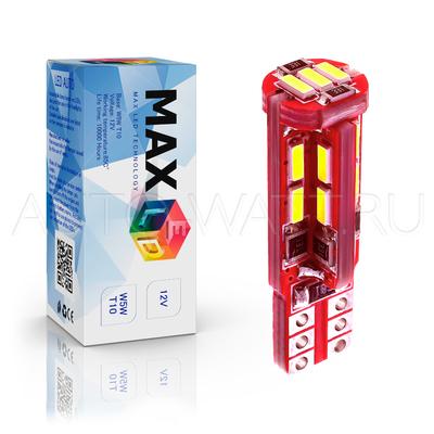 Светодиодная лампа W5W T10 – Max-Visiko 19Led 4Вт Белая