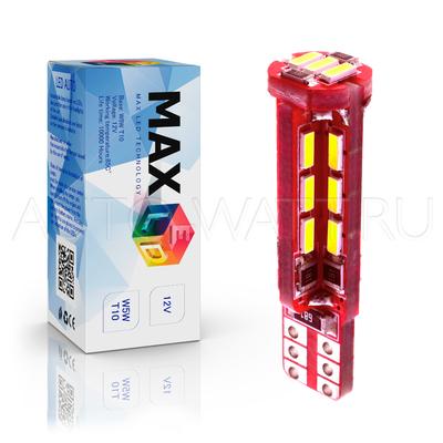 Светодиодная лампа W5W T10 – Max-Visico 27Led 6Вт Белая