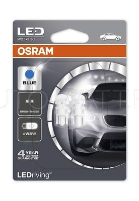 Светодиодная лампа W5W T10 – OSRAM LED Standart Blue 1W 6000K